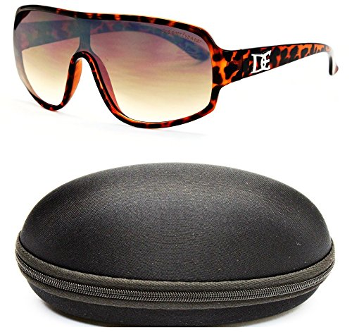 D677-cc Designer Eyewear Oversized Turbo Sunglasses (O2659B Tortoise Brown-Brown, - Sunglasses Extra Wayfarer Large
