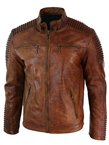Red Uomo Brown Distressed Smoke Giacca Piumino qrTxOBq