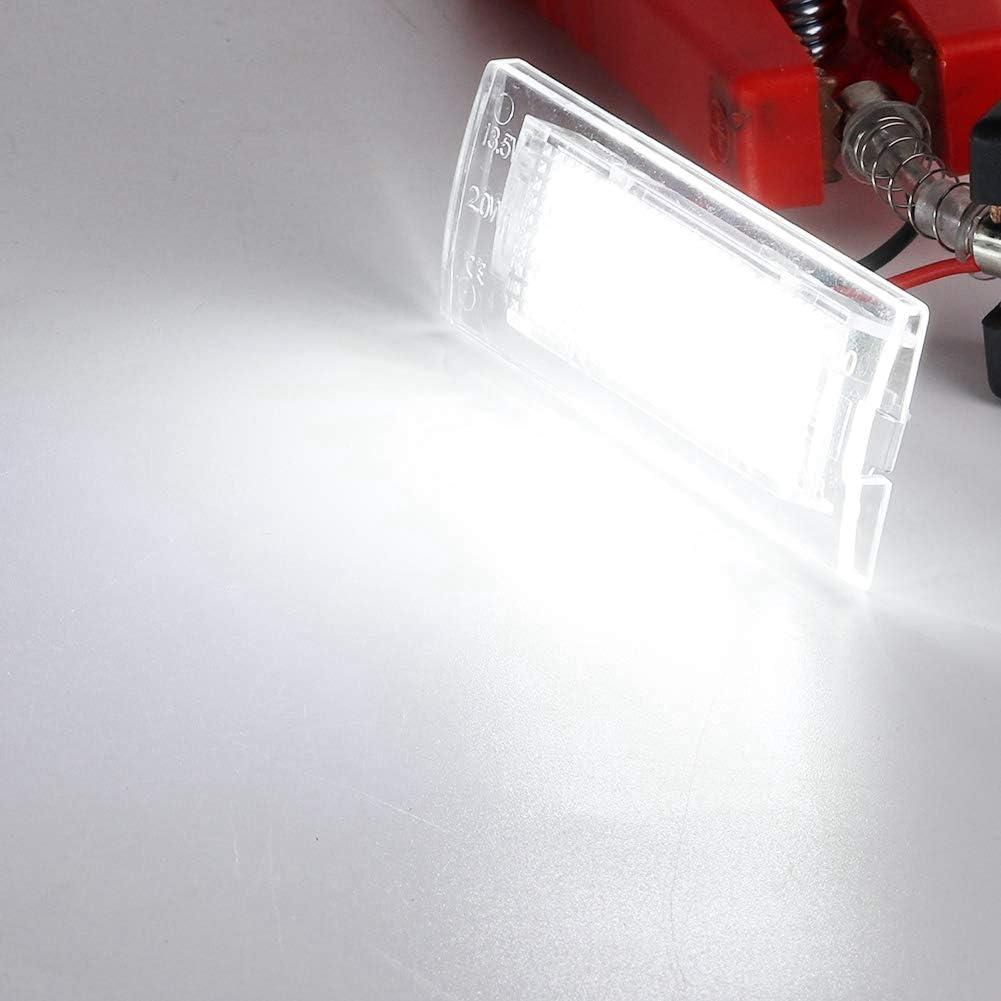 Luz de la Placa de Matr/íCula L/áMpara de la Placa Del N/úMero de Licencia de 2pcs LED Apta para X5 E53 X3 E83