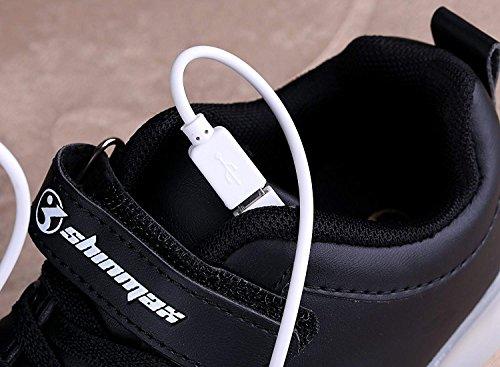 Noir CE Et pour Automne Printemps 9 Respirante Été Garçon Avec Chaussures Basket Rechargeable Certificat Chaussure enfant Shinmax LED USB Lumineuse LED Chaussures Clignotants Fille aqxBA