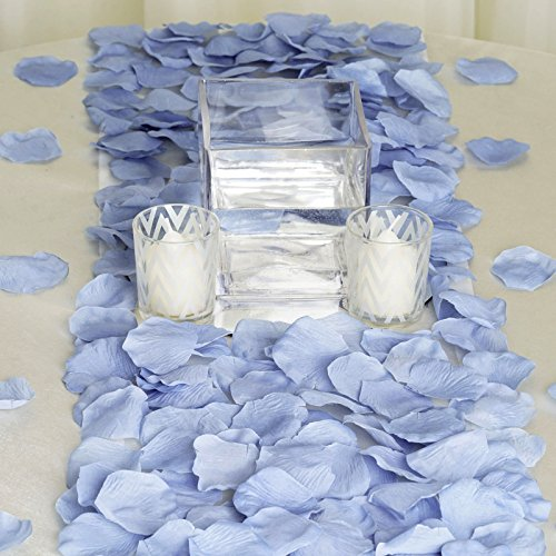 BalsaCircle 4000 Periwinkle Silk Artificial Rose Petals Wedding Ceremony Flower Scatter Tables Decorations Bulk Supplies Wholesale