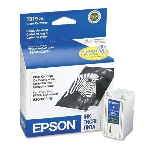 Epson T019201 Ink, 190 Page-Yield, Black]()