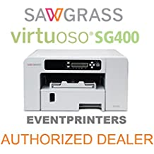 "SAWGRASS VIRTUOSO SG400 sublimation printer. BUNDLE with complete set of Sawgrass Sublijet HD inks - and 110 SHEETS of our exclusive sublimation paper ""MADE IN JAPAN"""