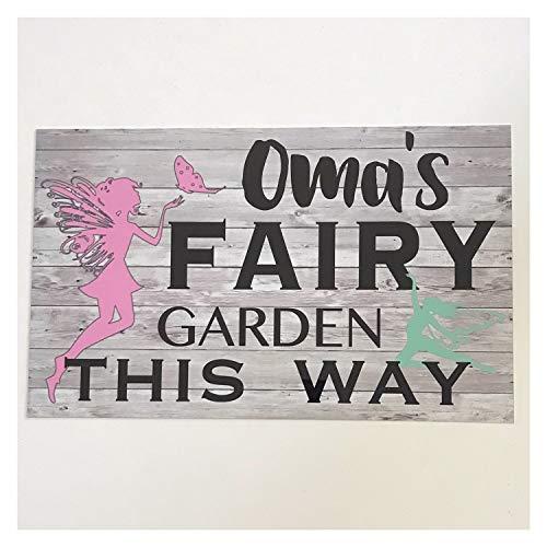 y Custom Your Name Kids Gardening Sign Wall Plaque Hanging Gardener Children ()