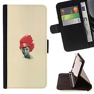 Jordan Colourful Shop - African American woman black red hair art For Apple Iphone 6 - < Leather Case Absorci????n cubierta de la caja de alto impacto > -