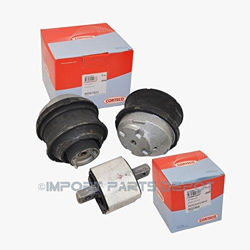(Mercedes Engine Motor Mount + Transmission Mount Corteco OEM 2202400617 (3pcs) C240 C280 C320 CL500 CL600 CLK320 CLK500 CLK550 E320 E430 E500 E550 S430 S500 SLK320)