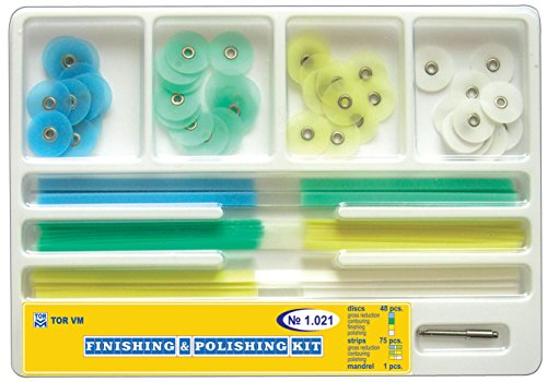 Composite Finishing Polishing Discs Assorted Kit 48pcs+strips 75pcs by ZubR