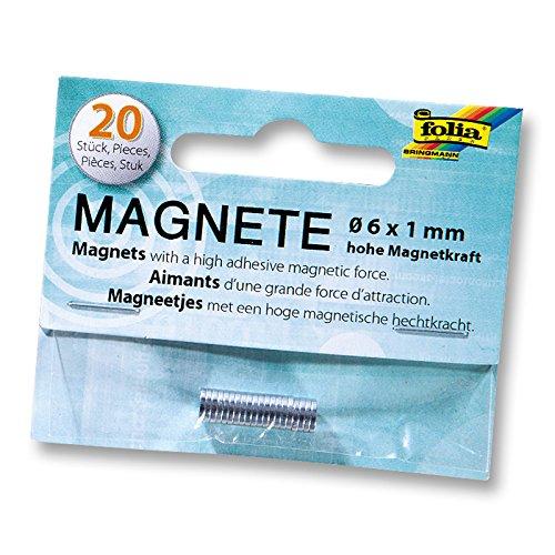 NEU Magnete 6 mm x 1 mm 20 St/ück