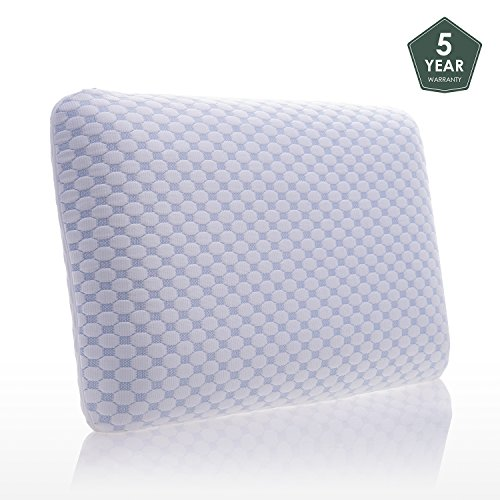 Memory Foam Pillows for Sleeping Cervical Neck Pain Cooling Gel Hypoallergenic Antimicrobial Orthopedic Ergonomic Pillow Design in (Memory Cooler)