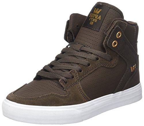 Supra Hommes Vaider Brun Sneaker (demitasse / Cuivre)