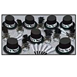 Beistle 88684-50 The Silver Top Hat Party Favors, 1 Assortment Per Package