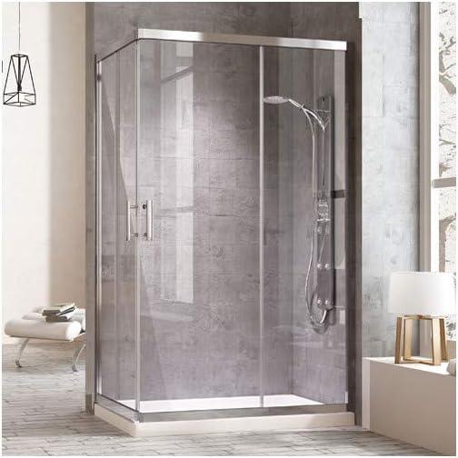 DUCHA.ES Mampara de ducha RECTANGULAR TRANSPARENTE (75x130cm ...
