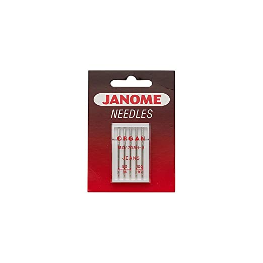 Janome Sewing Machine Blue Tip Needles Size 75//11 Part Number 9903111000