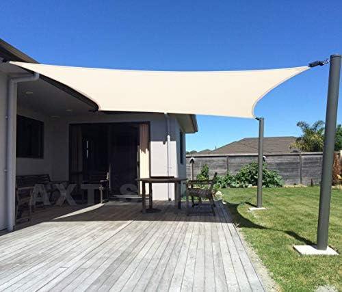 AXT SHADE Toldo Vela de Sombra Rectangular 2 x 3 m, protección ...