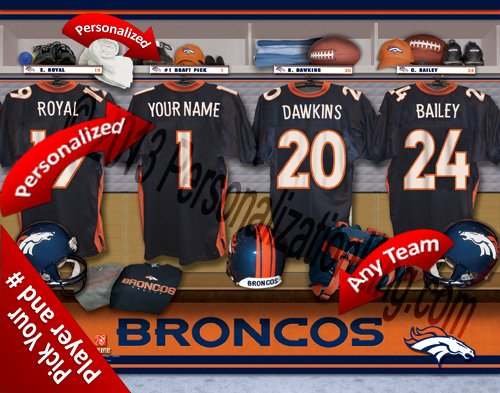 Denver Officially Broncosチームロッカー部屋Clubhouse Personlized Denver Personlized Officially Licensed NFL写真印刷 B00KI1LTN8, 榎本通商:a9ec3a77 --- harrow-unison.org.uk