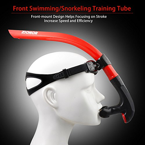 Zionor T1 Snorkel Lap Swimming Swimmer Training Diving Snorkeling Comfortable...