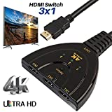 LtrottedJ 3Port HDMI Switch Splitter Cable ,4K2K 2160P - Best Reviews Guide