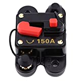 150Amp Circuit Breaker with Manual Reset,Inline Fuse Inverter for Car Marine Boat Bike Stereo Audio