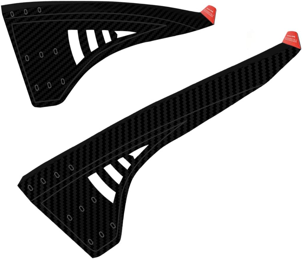 YOLOKE Mountain Bike Fenders with Reflector, 2PCS Front and Rear MTB Mud Guard, Bicycle Fender Mudguards, Fits 20 26 , 27.5 , 29 , Plus Size and All Fat Bike Wheel Sizes