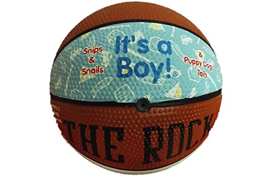 Its a Boy (Blue) and It's a Girl (Pink) Self Personalized Baby Gifts. Great ideas for Keepsakes, Shower Favors and Gender Reveals. Basketball, Football and Baseball. (Baby Blue Mini -