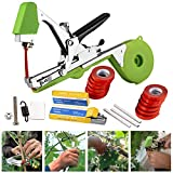 HENUO Tying Machine for Plant and Garden Plant Tapetool Tapener with 12 Rolls Tape Set for Vegetable, Grape, Tomato,Cucumber, Pepper and Flower