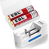 EBL 18650 Protected Rechargeable Batteries (2 Packs) with Smart Lithium Battery Charger