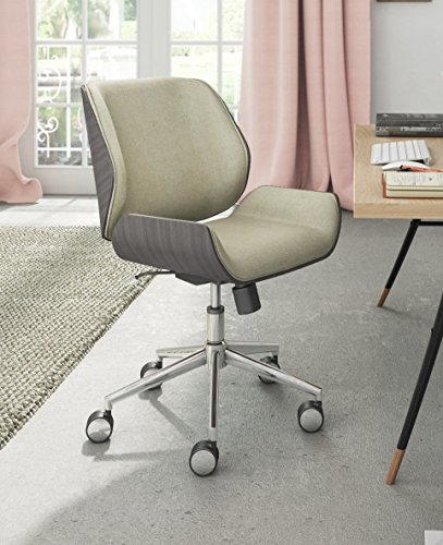 ELLE Décor Ophelia Bentwood Task Chair, French Ivory