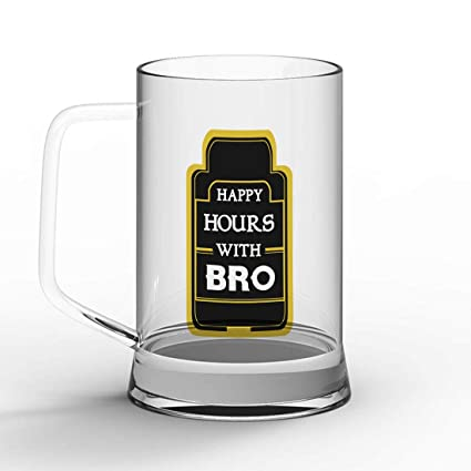 Buy Indibni Happy Hours with Bro Cheers Quote Clear Beer