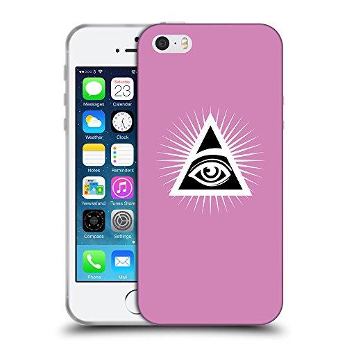 GoGoMobile Coque de Protection TPU Silicone Case pour // Q09110618 Œil Providence 21 Bronze // Apple iPhone 5 5S 5G SE