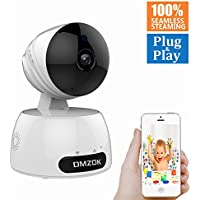 DMZOK WiFi Camera, Wireless Security Camera, Nanny Cam, WiFi IP Camera, 720P Pan Tilt Zoom Night Vision Two Way Audio Motion Detection, Remote Monitoring on Mobile App
