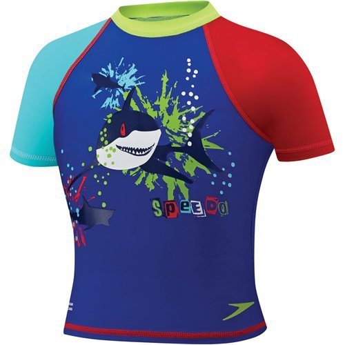 Speedo Kids' UPF 50+ Begin to Swim Short Sleeve Sun Shirt, B