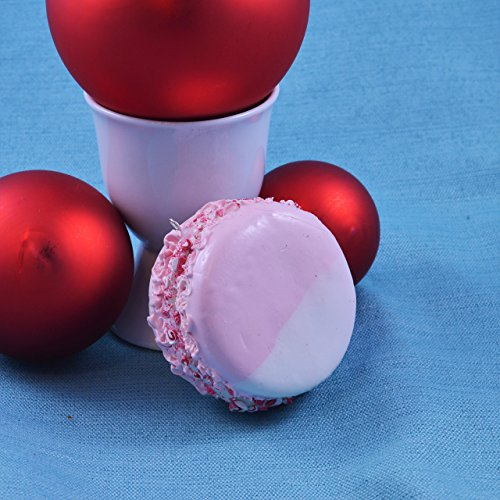 Peppermint Macaron Christmas Ornament ()