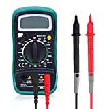 Multimeter Digital with Ohm AC/DC Volt Amp and Diode Transistor Semiconductor Anti-error protection,overload protection Tester Meter,Powerjc