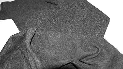 Cintura 5xl Cotone Donna Grigio Pantaloni Caldo Körpergröße158cm Business Thermo 48 Pile Elastica wqPTx