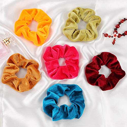 Mandydov 20 Pcs Hair Scrunchies Velvet Elastic Hair Bands Scrunchy Hair Ties Ropes Scrunchie for Women or Girls Hair Accessories - 20 Assorted Colors Scrunchies. by Mandydov (Image #4)