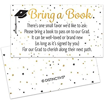 Amazon 2018 graduation party invitations with envelopes 30 graduation party invitation inserts books for grad request cards white black gold 25 count filmwisefo