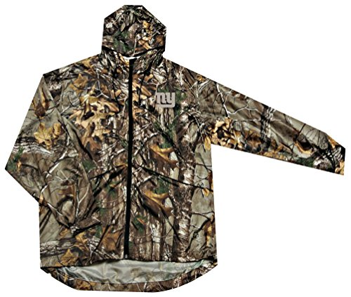 NFL New York Giants Sportsman Windbreaker Jacket, Real Tree Camouflage, 5X (Giants Stadium Replica)