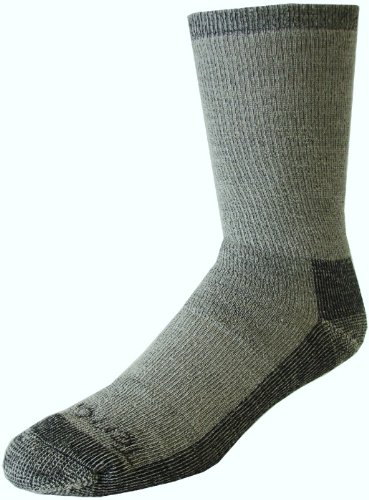 Terramar Men's Merino Hiker Crew Socks (2 Pack), X-Large, Grey Heather