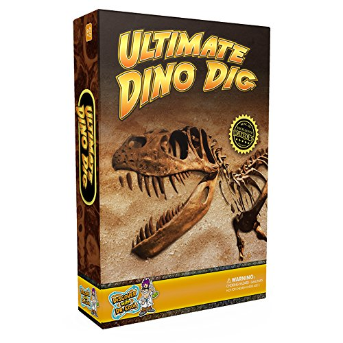 - ULTIMATE DINO DIG Science Kit - Dig Up 3 Real Dinosaur Fossils and Assemble a Tyrannosaurus Rex Skeleton Model