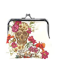 Vipsk mom gift ideas Gothic Beautiful Skull PU Leather Wallet Card Holder Coin Purse Clutch Handbag