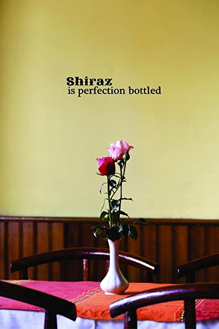 Shiraz is Perfection Bottled Color Peel /& Stick Wall Sticker Design with Vinyl Moti 2640 3 Decal Black Size 16 Inches x 40 Inches