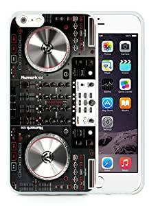 High Quality iPhone 6 Plus 5.5 Inch TPU Case ,Cool And Fantastic Designed Case With Numark NS6 Disc Jockey DJ Turntable White iPhone 6 Plus Cover