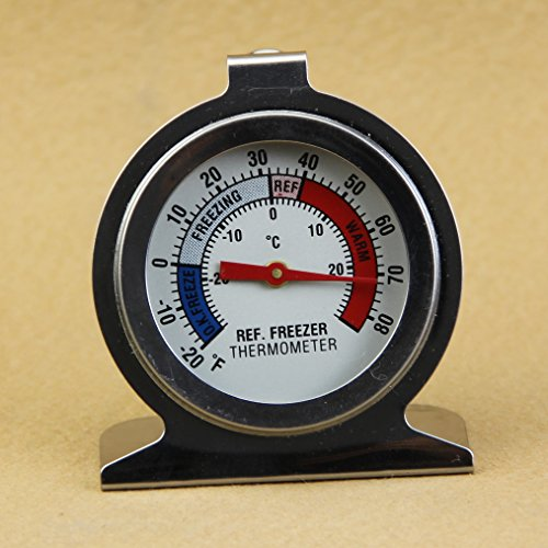 Hunulu Useful Stainless Steel Refrigerator Freezer Temperature Dial Type Thermometer