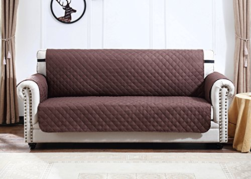 Argstar Sofa Covers (Extra Large) Profession Pet Protector Reversible Chocolate/Natural (Set Sage Sofa Sectional)
