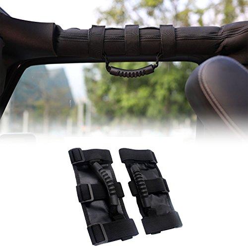 - Jeep Universal Grab Handles Heavy Duty Unlimited Roll Bar Grab Handles Set for Jeep Wrangler CJ YJ TJ JK JL (2pcs in 1pack)