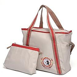Mom Miya Multifunctional Baby Diaper Bag Changing Shoulder Handbag Mother Stroller Bag 2 color (Beige)