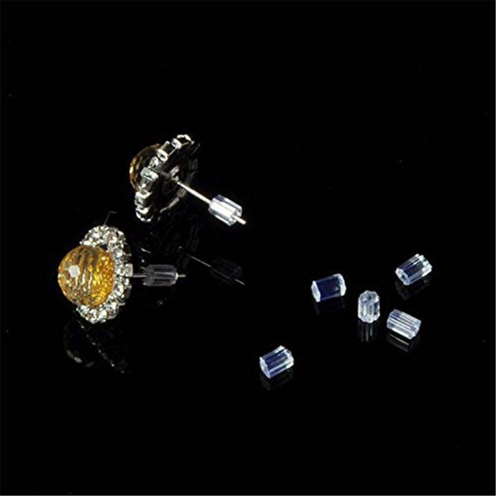 Sungpunet Lot de 144/petits embouts transparents de s/écurit/é pour arri/ère de boucles doreille