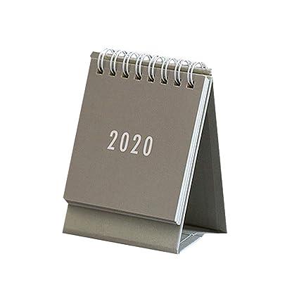 NUOBESTY 2020 Calendario de escritorio, 1 pieza, Mini calendario ...