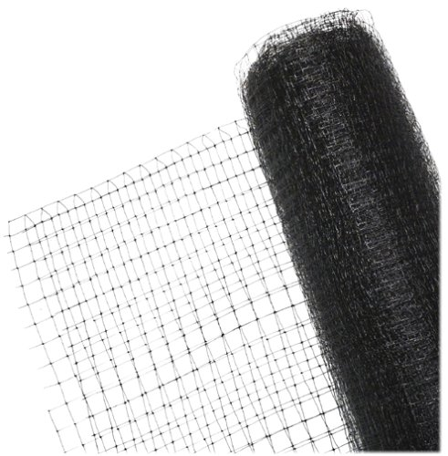 BirdBlock 604 Reusable Netting for Bird Protection, 7 feet x 20 feet, Black]()
