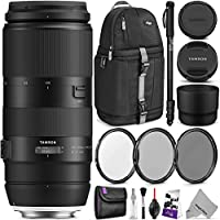 Tamron 100-400mm f/4.5-6.3 Di VC USD Lens for CANON EF w/ Advanced Photo and Travel Bundle